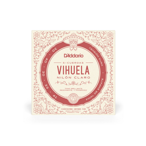 D'Addario Vihuela Strings, Hard Tension 30-41