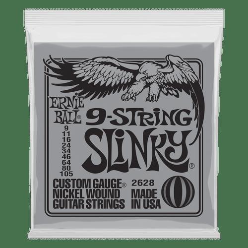 Ernie Ball Slinky Electric Guitar Strings; 9-String set 9-105