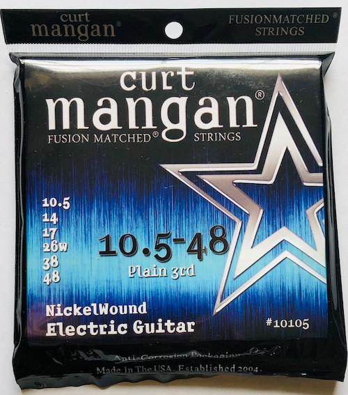 Curt Mangan Nickel-Plated Steel Electric Guitar Strings 10.5-48