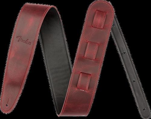 Fender Limited Leather Guitar Strap, Oxblood