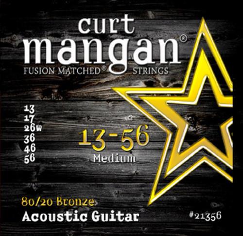Curt Mangan 80/20 Bronze Round Core Acoustic Guitar Strings 13-56