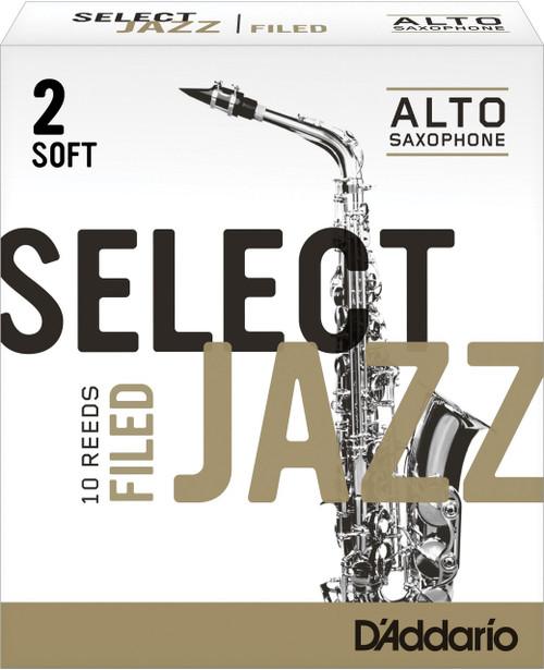 D'Addario Select Jazz Alto Saxophone Reeds - 10-pack (Filed)