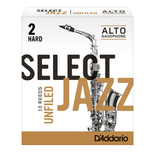 D'Addario Select Jazz Alto Saxophone Reeds - 10-pack (UnFiled)