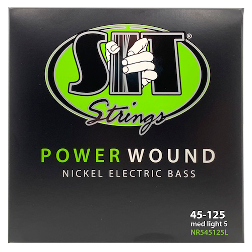 S.I.T Power Wound Nickel Bass Strings; gauges 45-125