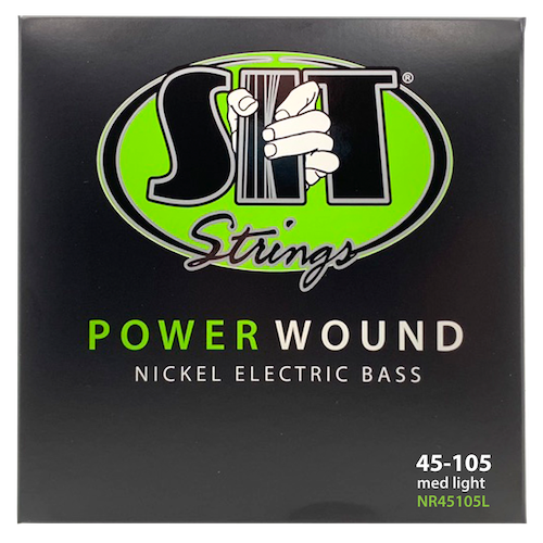 S.I.T Power Wound Nickel Bass Strings; gauges 45-105
