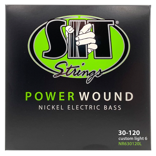S.I.T Power Wound Nickel Bass Strings; 6-String set gauges 30-120