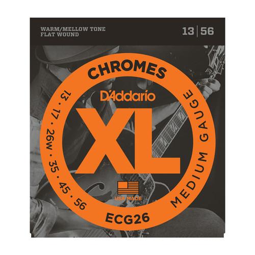 D'Addario XL Chromes Flatwound Elec Guitar Strings