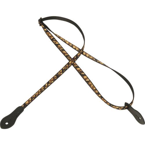 """Levy's 1/2"""" Jacquard Weave Mandolin/Ukulele Strap - design 007"""