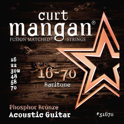 Curt Mangan Phosphor Bronze Acoustic Guitar Strings; baritone 16-70