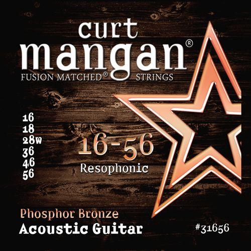 Curt Mangan Phosphor Bronze Acoustic Guitar Strings; Resophonic 16-56