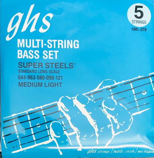 GHS Super Steels Bass Guitar Strings; gauges 44-121