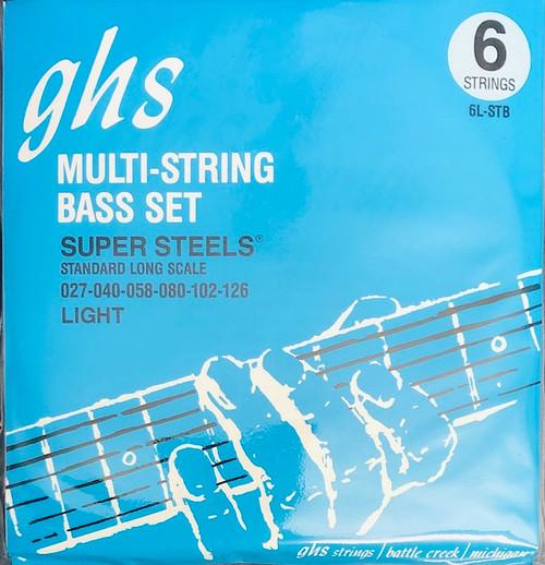 GHS Super Steels Bass Guitar Strings; gauges 27-126