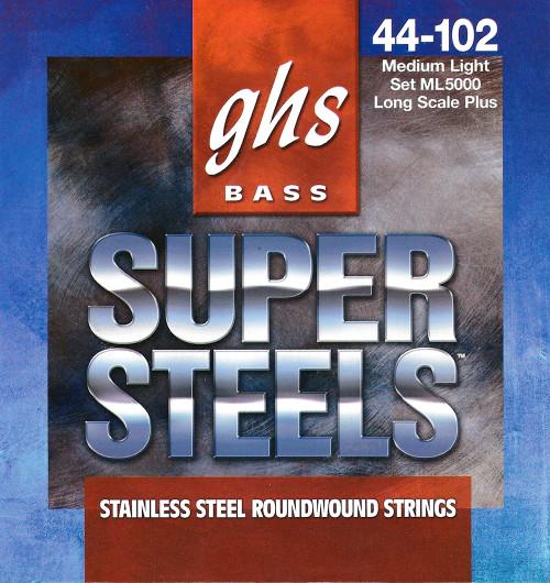 GHS Super Steels Bass Guitar Strings; long scale+ gauges 44-102