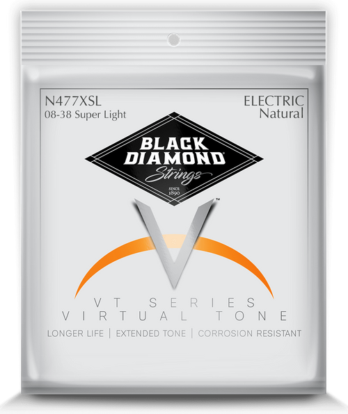 Black Diamond Nickel Wound Electric Strings; 8-38
