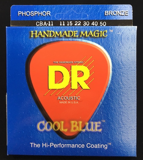 DR Cool Blues Acoustic Guitar Strings; 11-50