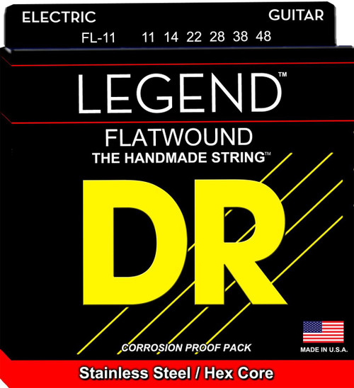 DR Legend Flat Wound Electric Guitar Strings