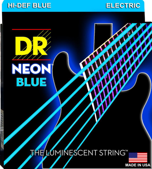 DR Neon Blue Electric Guitar Strings