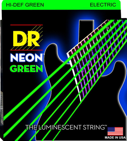 DR Neon Green Electric Guitar Strings
