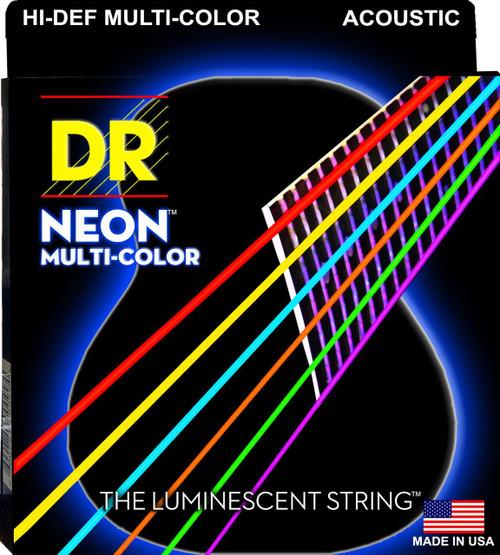 DR Neon Multi Color Acoustic Guitar Strings