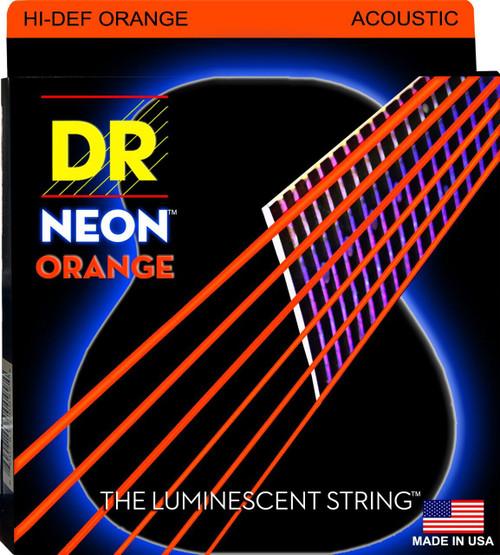 DR Neon Orange Acoustic Guitar Strings