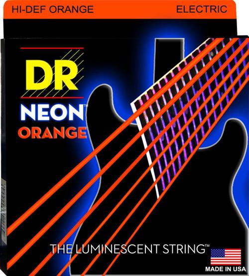 DR Neon Orange Electric Guitar Strings