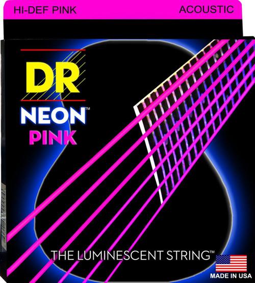 DR Neon Pink Acoustic Guitar Strings