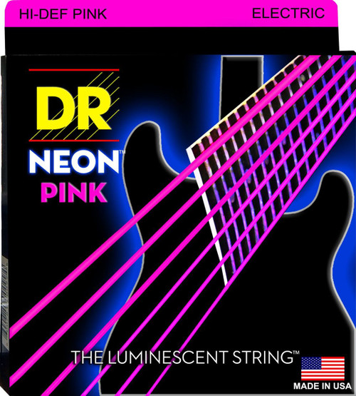 DR Neon Pink Electric Guitar Strings