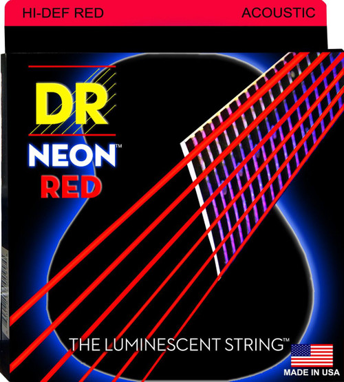DR Neon Red Acoustic Guitar Strings