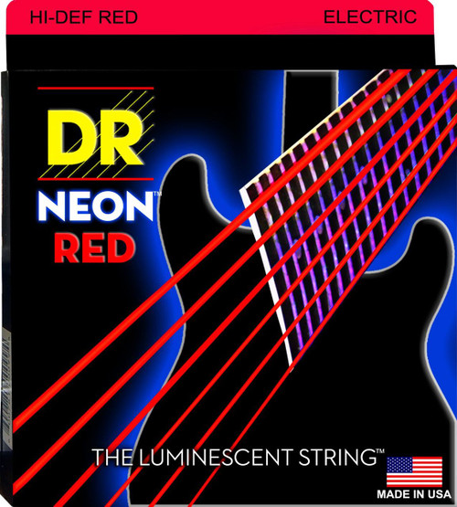 DR Neon Red Electric Guitar Strings