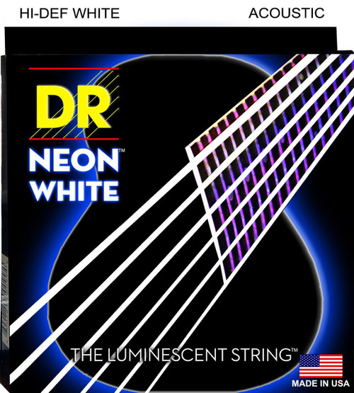DR Neon White Acoustic Guitar Strings