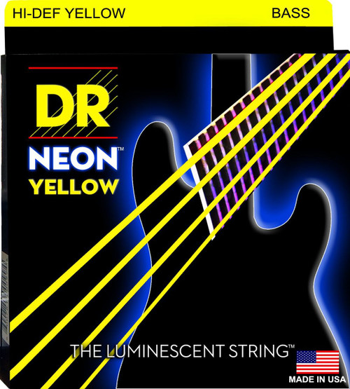 DR Neon Yellow Bass Guitar Strings