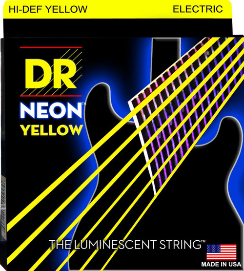 DR Neon Yellow Electric Guitar Strings