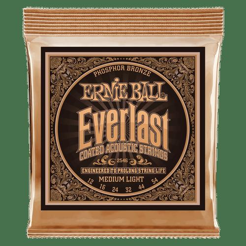 Ernie Ball Everlast Phosphor Bronze Acoustic Guitar Strings; 12-54