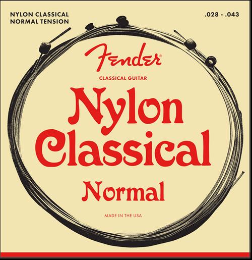 Fender 100 Clear Nylon Tie End Folk/Classical Guitar Strings