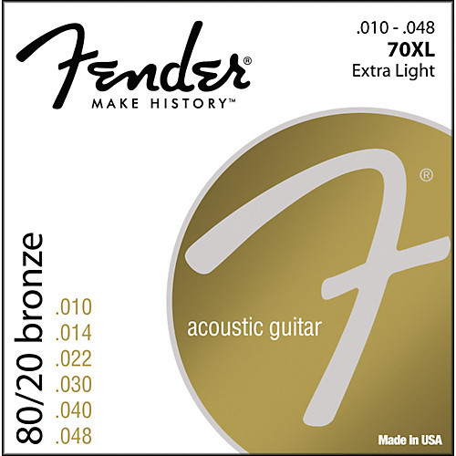 Fender 80/20 Bronze Wound Acoustic Guitar Strings (ball end)
