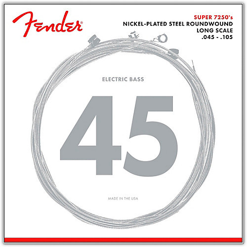 Fender Nickel-Plated Roundwound Bass Guitar Strings