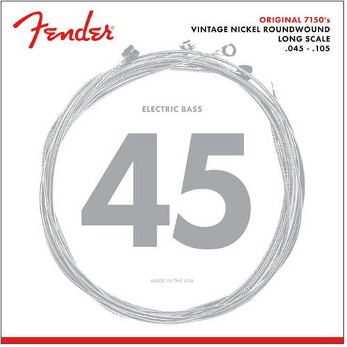 Fender Pure Nickel Roundwound Bass Guitar Strings