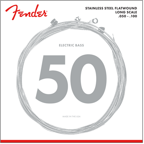 Fender Stainless Steel Flatwound Bass Guitar Strings