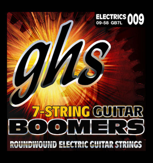 GHS Boomers Electric Guitar Strings 7&8-string sets