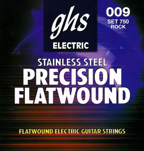 GHS Precision Flatwound SS Electric Guitar Strings