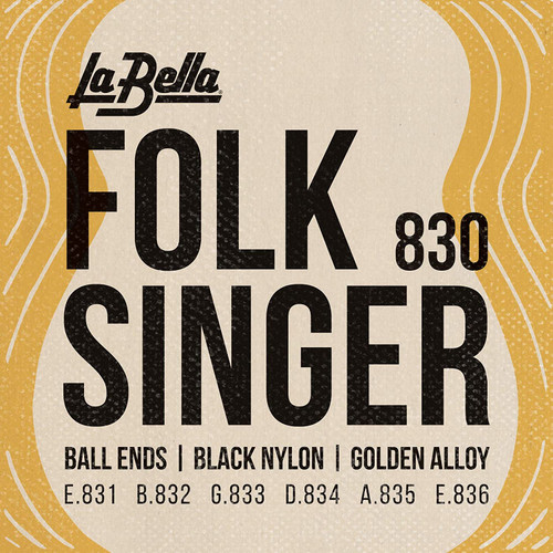 La Bella Folk Singer Ball End Guitar Strings