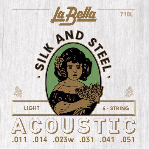La Bella Silk & Steel Acoustic Guitar Strings
