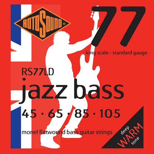Rotosound Monel Flatwound Jazz Bass 77 Guitar Strings (select gauges)