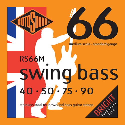 Rotosound RS66M Medium Scale Swing Bass Guitar Strings