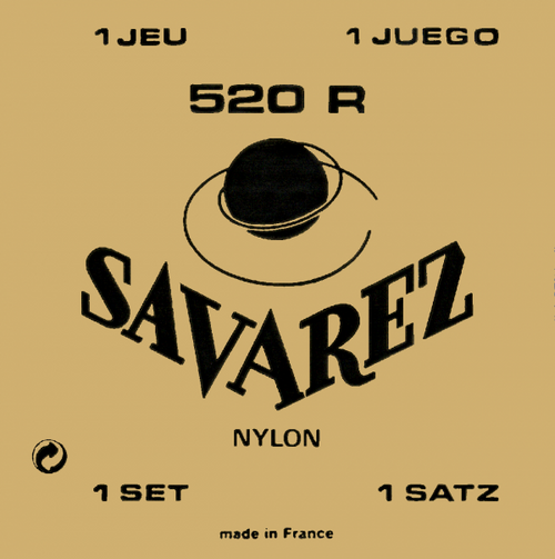 Savarez 520R Classical Guitar Strings - high tension