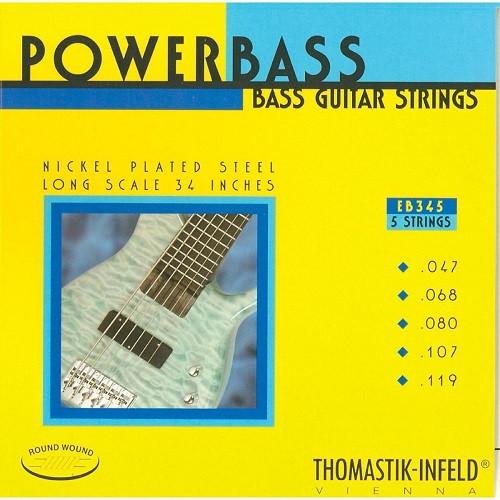 Thomastik Infeld EB345 PowerBass Bass Strings 5-string set 47-119