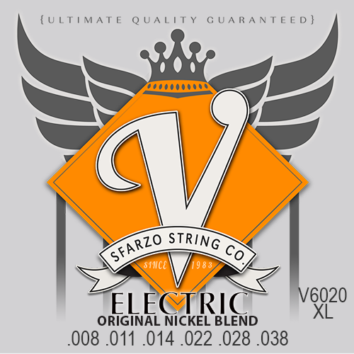 V Strings by Sfarzo Vintage Nickel Electric Guitar Strings