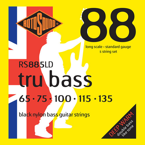 Rotosound RS885LD Tru Bass Nylon Flatwound Bass Guitar Strings - 5-String