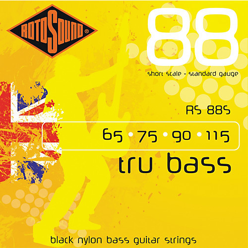 Rotosound RS88S Tru Bass Nylon Flatwound Bass Guitar Strings - Short Scale