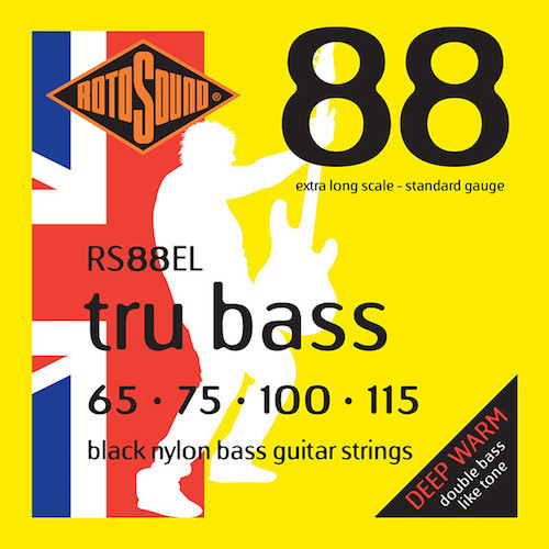 Rotosound RS88EL Tru Bass Nylon Flatwound Bass Guitar Strings - Extra Long Scale